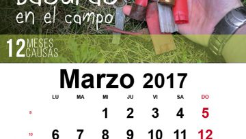 """Calendario solidario ADECAP: Marzo """"Cero basuras en el campo"""""""