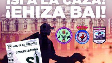 ADECAP secunda las movilizaciones del domingo en defensa de la caza de Donostia, Bilbao e Iruña