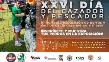 Gran exposición de perros de caza en el XXVI Día del Cazador y Pescador