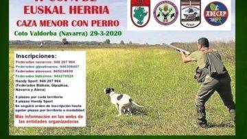 IV COPA DE EUSKAL HERRIA DE CAZA MENOR CON PERRO - VALDORBA (NAVARRA) 29-3-2020